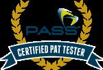 certified PAT tester badge
