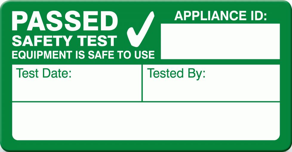 Passed PAT testing sticker